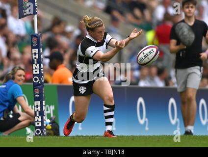 Twickenham Stadium. London. UK. 2nd June 2019. England women v Babarians women. Danielle (Barbarians). 02/06/2019. Credit: Sport In Pictures/Alamy Live News - Stock Photo