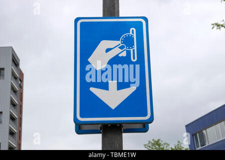 Billboard Paid Parking At Diemen The Netherlands 2019 - Stock Photo