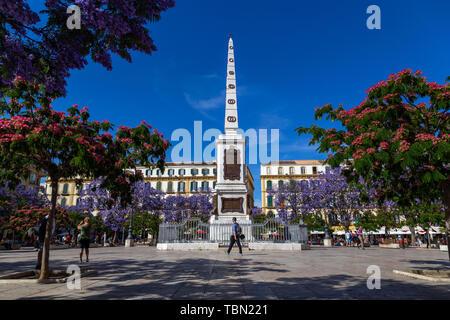 Plaza de la Merced in Malaga - Stock Photo