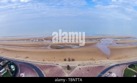 France, Normandy, Omaha, World War II, Normandy landings, D-day, Operation Overlord, landings, monuments, museums, World War II, churches, tanks, cannons - Stock Photo
