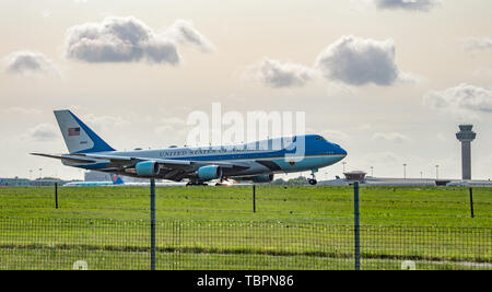 Stansted Mountfitchet, United Kingdom. 3 June 2019. US President Donald Trump arrives at London Stansted Airport for a planned 3 day visit. Credit: Peter Manning/Alamy Live News - Stock Photo