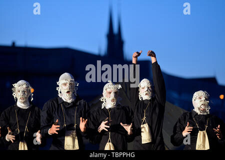 Prague, Czech Republic. 01st June, 2019. A dress rehearsal of the CAMPQ project, that will be representing the Czech Republic at exhibition of countries and regions within Prague Quadrennial, was held in Prague, Czech Republic, on June 1, 2019. Credit: Michaela Rihova/CTK Photo/Alamy Live News - Stock Photo
