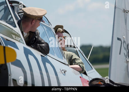The two-day 29th Pardubice Airshow continues on June 2, 2019, in Pardubice, Czech Republic. (CTK Photo/Josef Vostarek) - Stock Photo