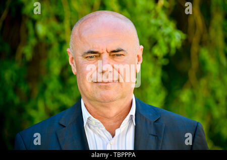 Prague, Czech Republic. 03rd June, 2019. Ivan Moravek, acting head of the National Gallery Prague (NGP), poses for the photographer within a press conference on the current situation in the gallery, on June 3, 2019, in Prague, Czech Republic. Credit: Vit Simanek/CTK Photo/Alamy Live News - Stock Photo