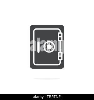 Safe icon on white background - Stock Photo