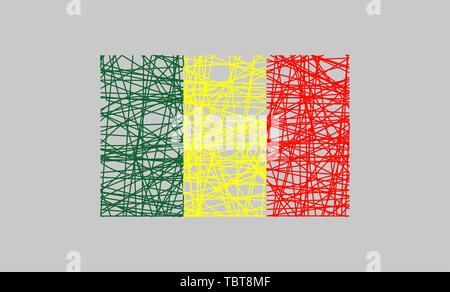 Republic of Mali flag design concept - Stock Photo