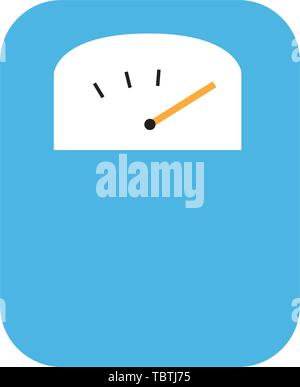 Body weight scale icon flat vector illustration isolated - Stock Photo