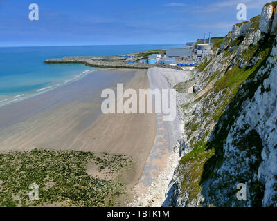 PENLY, FRANCE - MAY 31, 2019: Penly Nuclear Power Plant located at Seine Maritime Normandy on the English Channel coast, taken on a bright sunny day a - Stock Photo