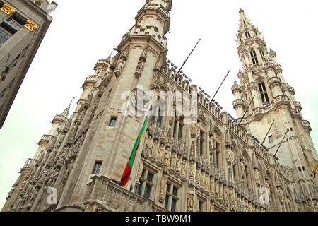 Brussels Street View - Stock Photo