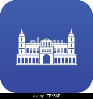 Castle icon digital blue - Stock Photo