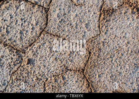 Close up texture background of takir soil - Stock Photo