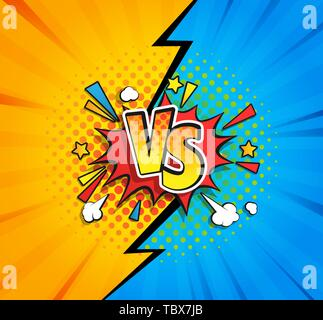Versus competitive concept bubble in comic style. - Stock Photo