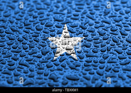 National flag of Somalia made of water drops. Background forecast concept. - Stock Photo