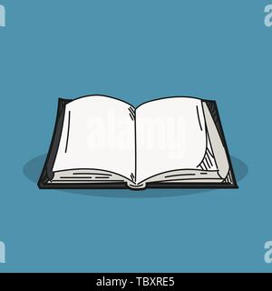 Book illustration on color background - Stock Photo
