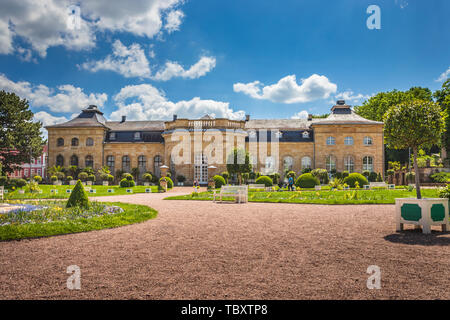 GOTHA, GERMANY - CIRCA MAY, 2019: Orangery at Castle Friedensstein of Gotha in Thuringia, Germany - Stock Photo