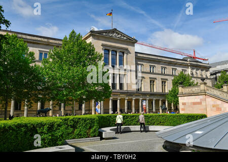 New museum, Bodestrasse, museum island, middle, Berlin, Germany, Neues Museum, Bodestraße, Museumsinsel, Mitte, Deutschland - Stock Photo