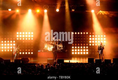 Prague, Czech Republic. 03rd June, 2019. American rock band 'Alice in Chains' performs in Prague, Czech Republic, on June 3, 2019. Credit: Katerina Sulova/CTK Photo/Alamy Live News - Stock Photo