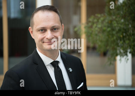 Berlin, Germany. 04th June, 2019. Lars Mortsiefer, Member of the Executive Board of the National Anti-Doping Agency Germany (NADA), recorded at the NADA Annual Press Conference. Credit: Jörg Carstensen/dpa/Alamy Live News - Stock Photo