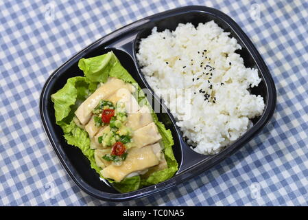 Airplane food, high-speed rail food, fast food, high-end boxed lunch. - Stock Photo