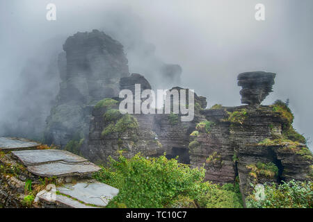 Unique geological landform - mount fanjing in guizhou province,China - Stock Photo