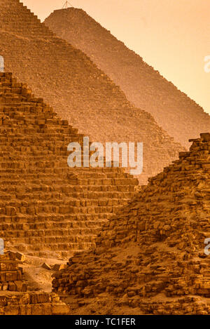 Photo: © Simon Grosset. The Giza Pyramid complex, or Giza Necropolis, near cairo, Egypt. Archive: Image digitised from an original transparency.