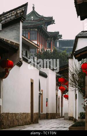 Fuzhou,Fujian province,China-07 MAR 2019: the famous historic and cultural area Sanfang Qixiang (Three Lanes and Seven Alleys) in Fuzhou - Stock Photo