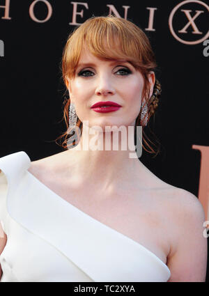 Hollywood, California, USA 4th June 2019 Actress Jessica Chastain attends the World Premiere of 20th Century Fox's 'Dark Phoenix' on June 4, 2019 at TCL Chinese Theatre IMAX in Hollywood, California, USA. Photo by Barry King/Alamy Live News - Stock Photo