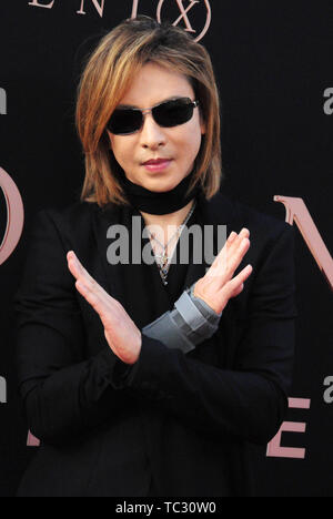 Hollywood, California, USA 4th June 2019 Yoshiki attends the World Premiere of 20th Century Fox's 'Dark Phoenix' on June 4, 2019 at TCL Chinese Theatre IMAX in Hollywood, California, USA. Photo by Barry King/Alamy Live News - Stock Photo