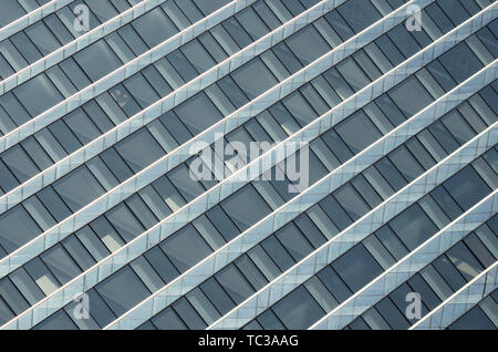 Blue minimalist glass curtain wall - Stock Photo