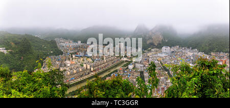 Mountain cities, villages, homes. - Stock Photo