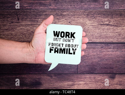 Work But Don't Forget About Family - Stock Photo