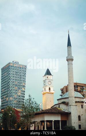 Skanderbeg square main sights of Tirana city center - Stock Photo