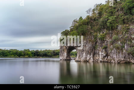 The scenery of Xiangnose Mountain in Guilin - Stock Photo