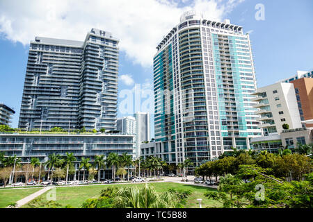 Miami Florida Midtown Wynwood The Shops at Midtown Miami shopping Hyde Midtown Residences 4 Midtown high rise condominium residential buildings - Stock Photo