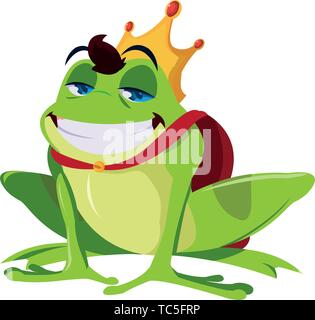 toad prince fairytale character vector illustration design - Stock Photo