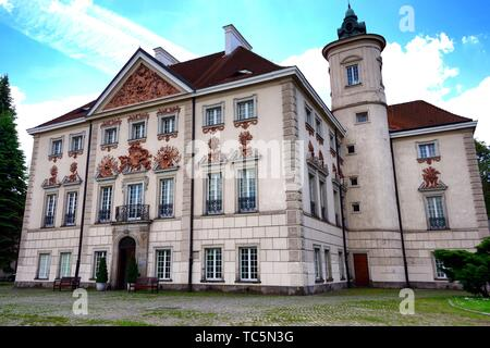Palace at Otwock Wielki or Otwock Grand Palace known also Jezierscy Family palace or Bielinscy Family palace, architect Tylman van Gameren, presently - Stock Photo