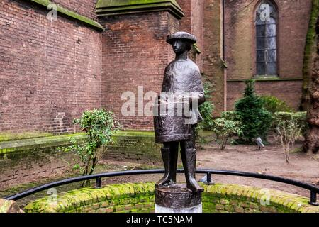 The Little Drummer, old statue next to the St. Catharine's Church in Eindhoven, The Netherlands, Europe. - Stock Photo