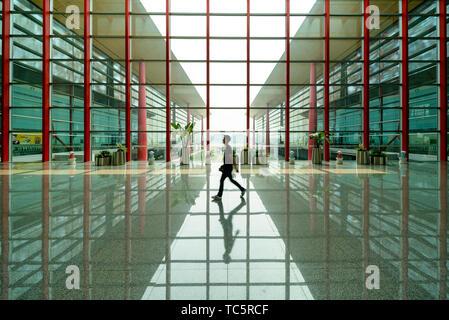 Terminal 3, Beijing Capital Internationale Airport. - Stock Photo