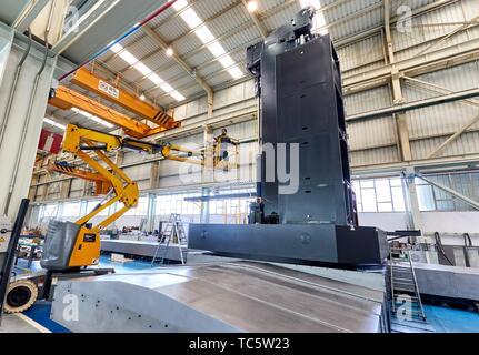 Lathe, Machining Center, CNC, Design, manufacture and installation of machine tools, Gipuzkoa, Basque Country, Spain, Europe - Stock Photo