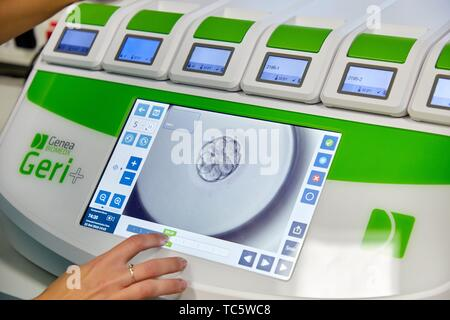 Geri +, EEVA System, Embryo Early Viability Assessment Test, Embryology, ARU, Assisted Reproduction Unit, IVF, In Vitro Fertilization, Hospital, - Stock Photo