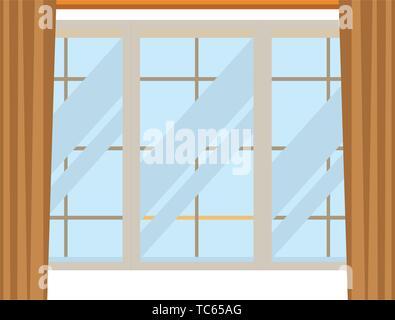 house window icon cartoon isolated - Stock Photo
