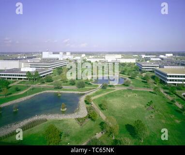 Aerial view of the Lyndon B Johnson Space Center at Houston, Texas, 1982. Image courtesy National Aeronautics and Space Administration (NASA). () - Stock Photo