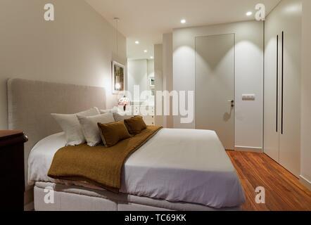 Bedroom, Home, Decoration, Donostia, San Sebastian, Gipuzkoa, Spain, Europe