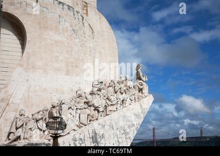 Monument of Discoveries, Padrao dos Descobrimentos, Lissabon; Portugal. - Stock Photo