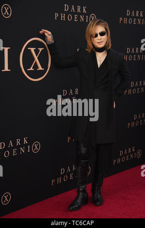 """Hollywood, California, USA. 4th June, 2019. Yoshiki 06/04/2019 """"Dark Phoenix"""" Premiere held at the TCL Chinese Theatre in Hollywood, CA Photo by Kazuki Hirata/HollywoodNewsWire.co Credit: Hollywood News Wire Inc./Alamy Live News - Stock Photo"""