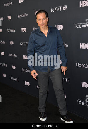 Los Angeles, USA. 06th June, 2019. LOS ANGELES, USA. June 06, 2019: Rico Simonini at the premiere for 'Ice on Fire' at the LA County Museum of Art. Picture Credit: Paul Smith/Alamy Live News - Stock Photo