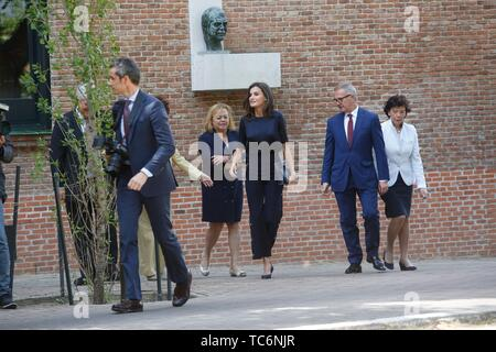 Madrid, Spain. 06th June, 2019. Queen Letizia during the meeting with the student board in Madrid, Thursday May 6, 2019 Credit: CORDON PRESS/Alamy Live News - Stock Photo