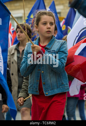 Carentan, France. 05th June, 2019. Residents of Normandy take part in a parade to commemorate the 75th anniversary of the World War Two D-Day invasion June 5, 2019 in Carentan, Normandy, France. Thousands have converged on Normandy to commemorate the 75th anniversary of Operation Overlord, the WWII Allied invasion commonly known as D-Day. Credit: Planetpix/Alamy Live News - Stock Photo
