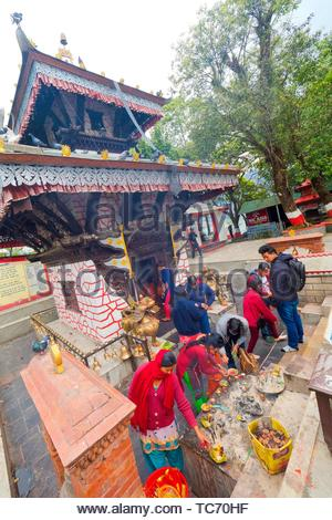 Tal Barahi Temple, Goddess Durga, Phewa Lake, Fewa Lake, Pokhara, Nepal, Asia. - Stock Photo
