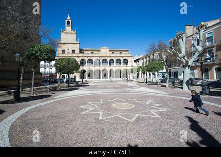 San Clemente town in Cuenca Castile La Mancha Spain. The old town hall. - Stock Photo
